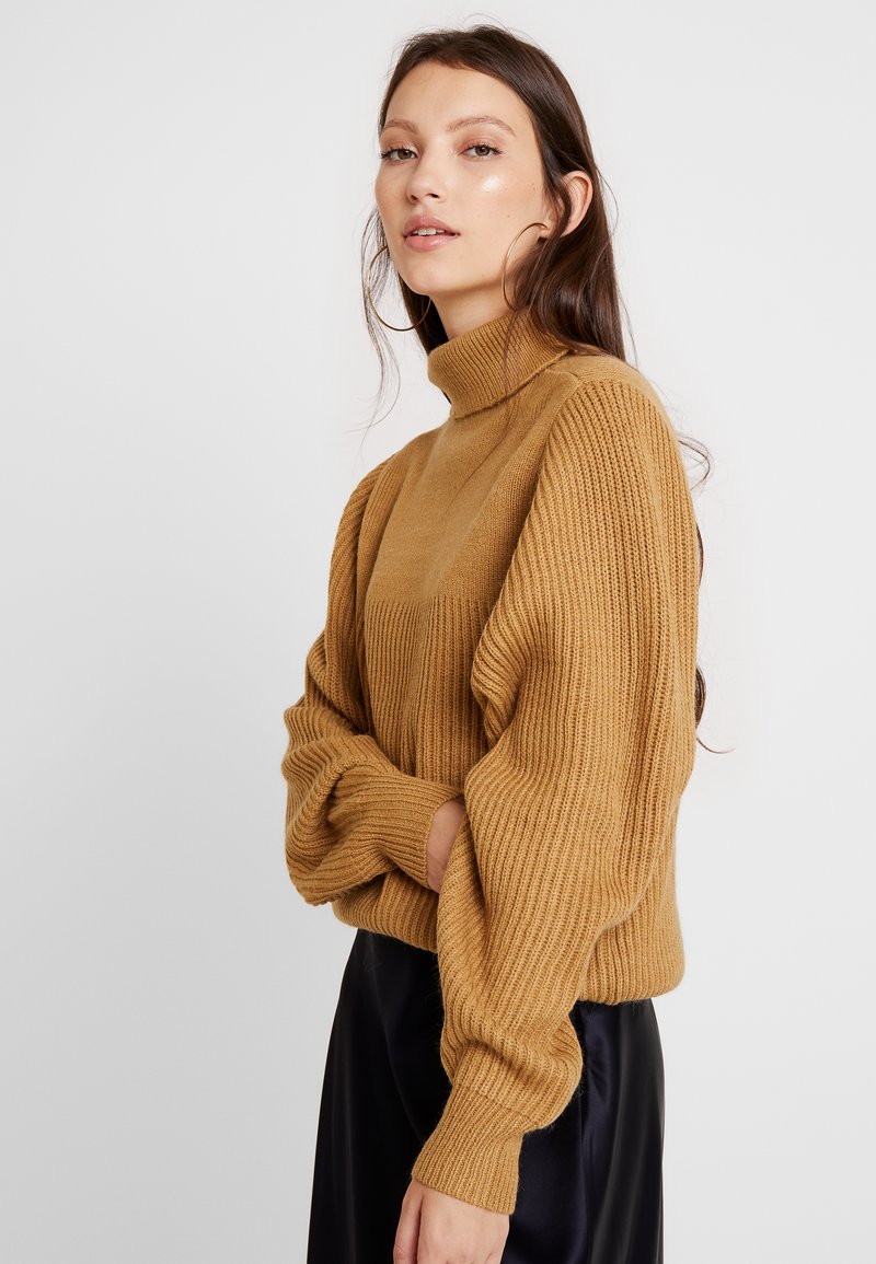 Vila - Strickpullover - tigers eye