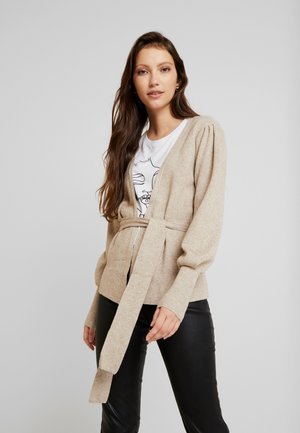 Cardigan - natural melange