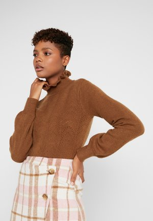 Sweter - toffee/solid