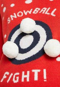 Vila - Jumper - racing red/snowballs - 4