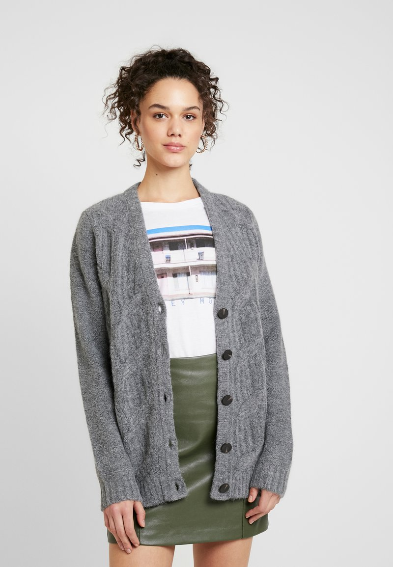 Vila - Cardigan - medium grey melange