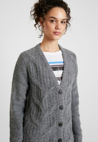 Vila - Cardigan - medium grey melange - 4