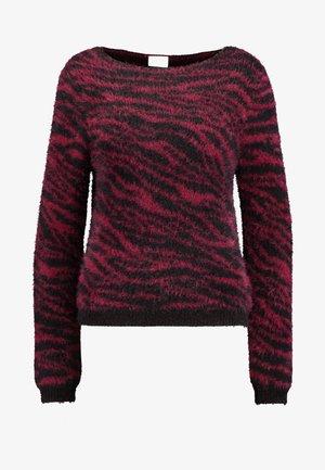 Pullover - tawny port/black