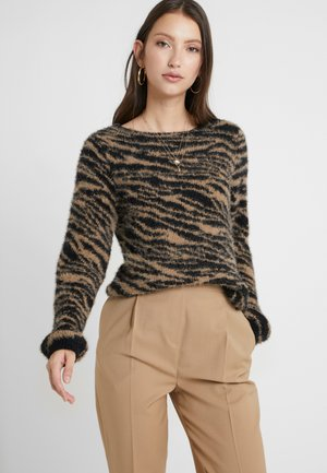 Jumper - tigers eye/black