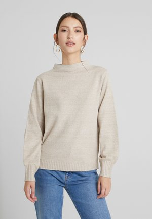 VIRIPLEY FUNNEL NECK - Strikkegenser - natural melange