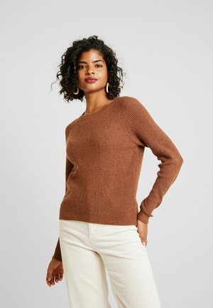 Strikpullover /Striktrøjer - oak brown