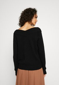 Vila - VIRIL V NECK  - Strikkegenser - black - 2