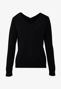 Vila - VIRIL V NECK  - Strikkegenser - black - 3