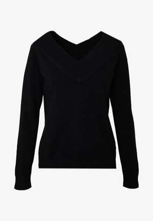 VIRIL V NECK  - Neule - black