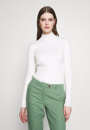 VIOLIVI FUNNEL NECK - Sweter - whisper white