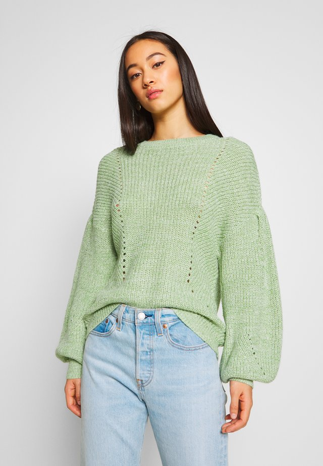 VISEE - Trui - green/khaki/white