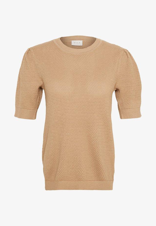 VICHASSA  - T-shirt print - beige