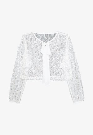 VILJA COVER UP - Summer jacket - cloud dancer/silver