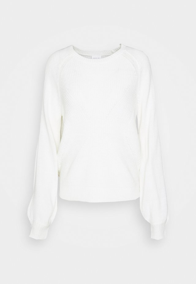 VIOA  - Strikkegenser - white alyssum