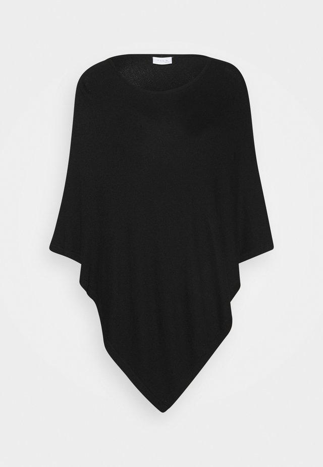VIBOLONIA O-NECK PONCHO - Cape - black