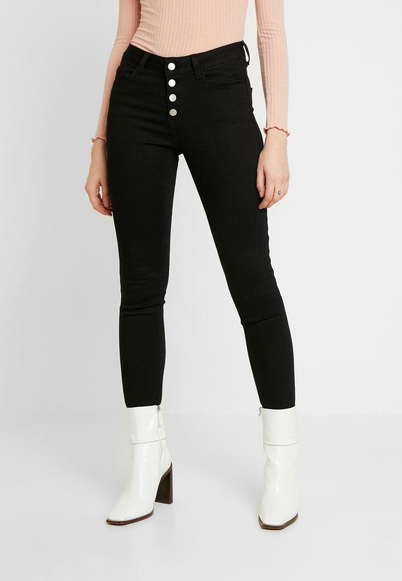 Vila - Jeans Skinny Fit - black
