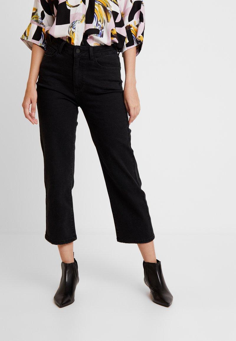 Vila - VISTILLA WIDE CROPPED - Jeans a sigaretta - black