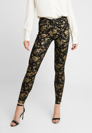 Straight leg jeans - black/gold
