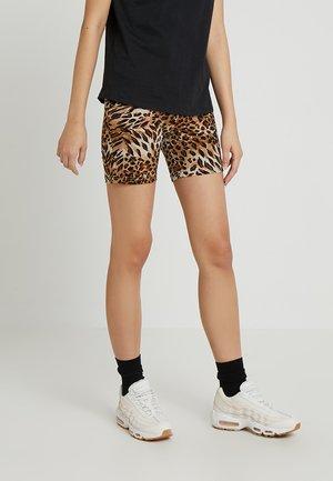VILEO PRINT CYCLING - Shorts - tobacco brown
