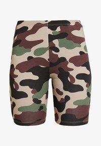 Vila - VICOOL BIKER - Shorts - sandshell/brown/green/black - 3