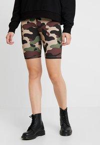 Vila - VICOOL BIKER - Shorts - sandshell/brown/green/black - 0