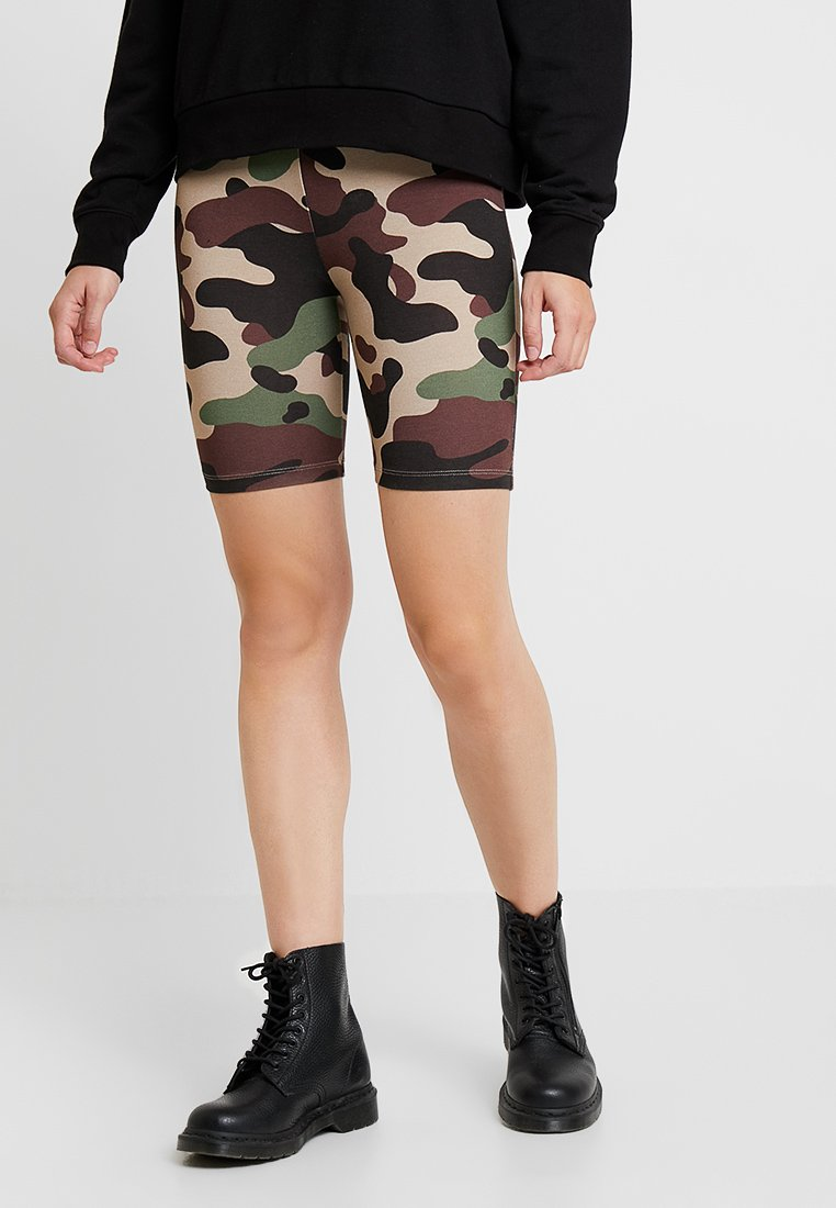 Vila - VICOOL BIKER - Shorts - sandshell/brown/green/black