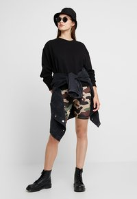 Vila - VICOOL BIKER - Shorts - sandshell/brown/green/black - 1