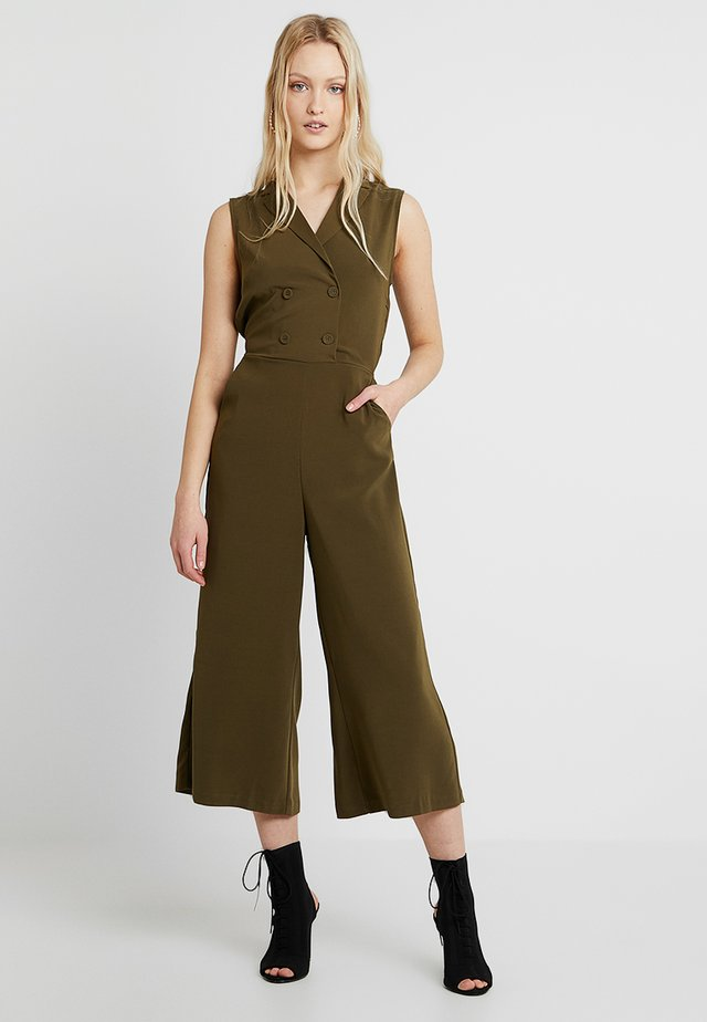 VIKAYA CROPPED JUMPSUIT - Jumpsuit - dark olive