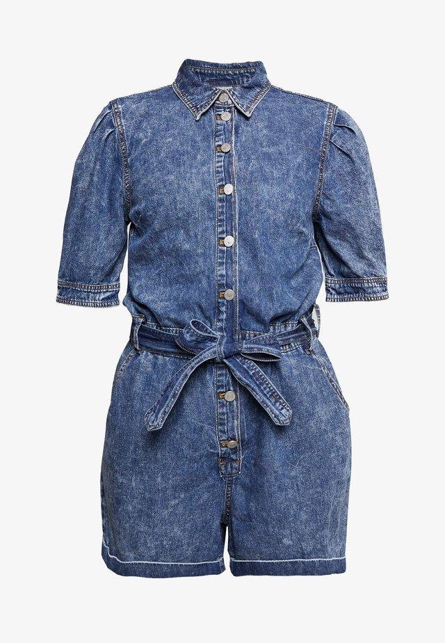 VICLASH SLEEVE PLAYSUIT - Jumpsuit - medium blue denim/stone wash