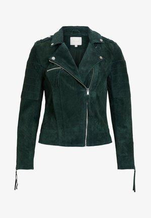 VICRIS - Leather jacket - pine grove
