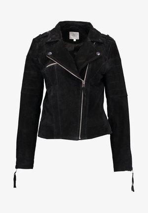 VICRIS - Veste en cuir - black
