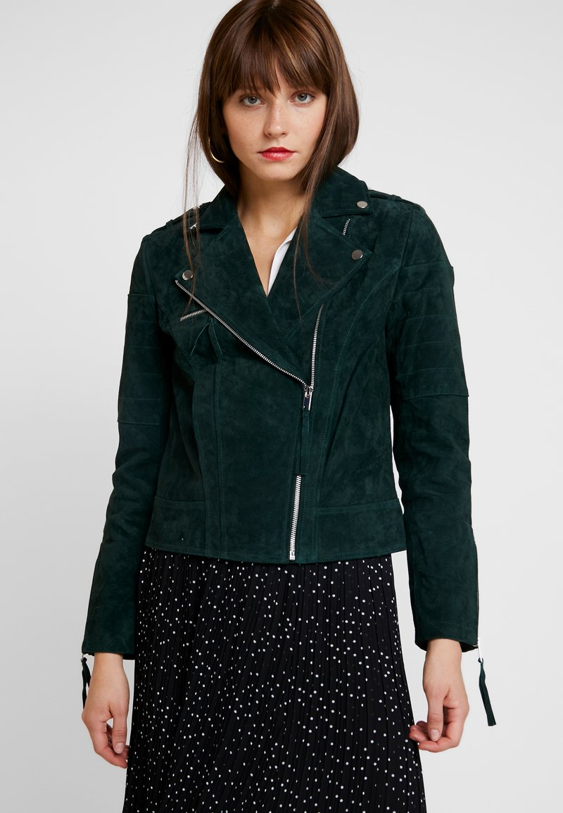 Vila - VICRIS JACKET   - Leather jacket - pine grove
