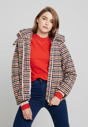 VIAI PUFF JACKET - Lehká bunda - rose smoke/navy blazer
