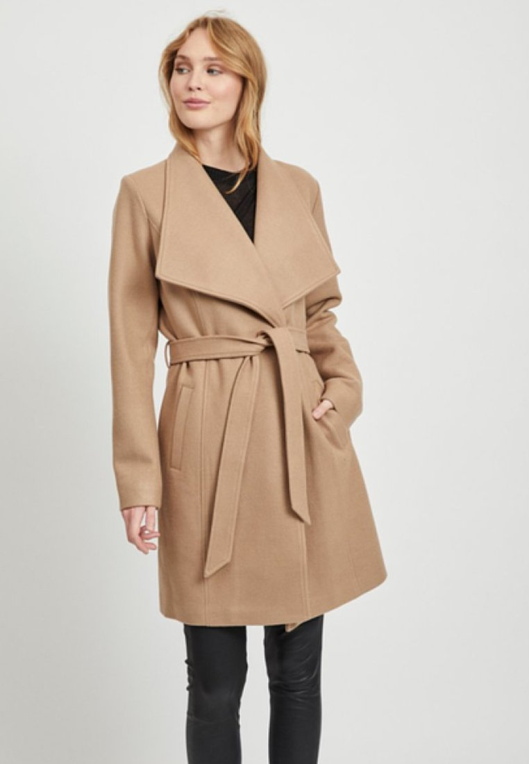 Vila - Classic coat - dusty camel