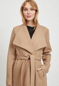 Vila - Classic coat - dusty camel - 3