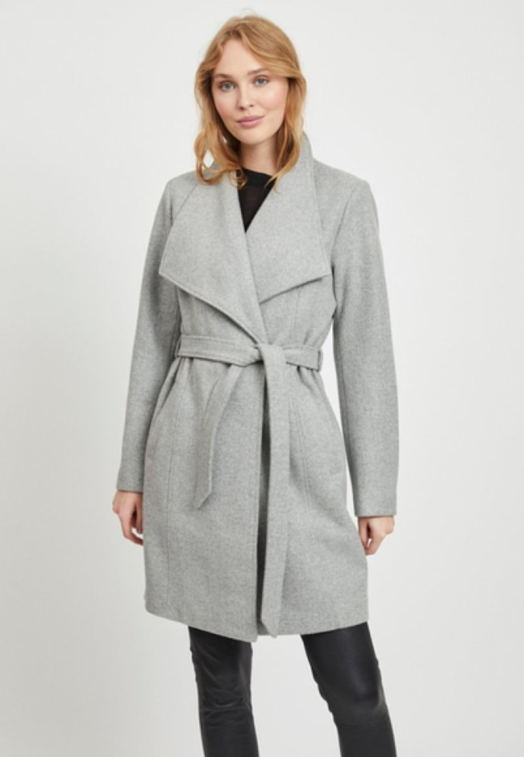 Vila - Wollmantel/klassischer Mantel - light grey melange