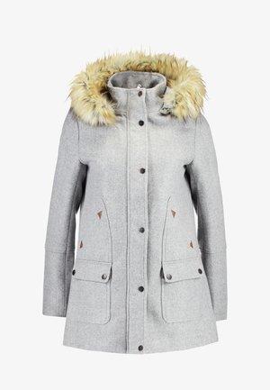 Zimní kabát - light grey melange