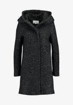 Zimní kabát - black/melange