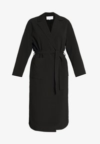 Vila - VICATE OVERSIZED LONG COAT - Mantel - black - 4