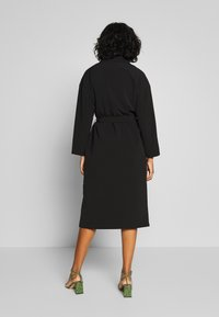 Vila - VICATE OVERSIZED LONG COAT - Mantel - black - 2