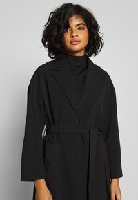 Vila - VICATE OVERSIZED LONG COAT - Mantel - black
