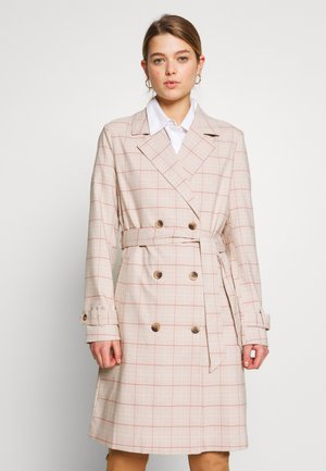 VIMITSI TRENCHCOAT - Trench - cloud dancer/check