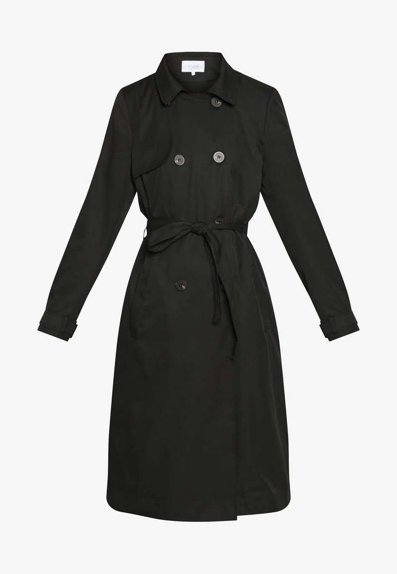 Vila VIMOVEMENT LONG - Trenchcoat - black