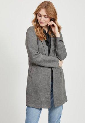 STRAIGHT FIT - Korte frakker - medium grey melange