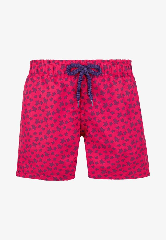 MICRO ROUND OF TURTLES - Swimming shorts - gooseberry red