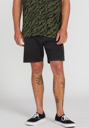 STEPPEN - Shorts vaqueros - black