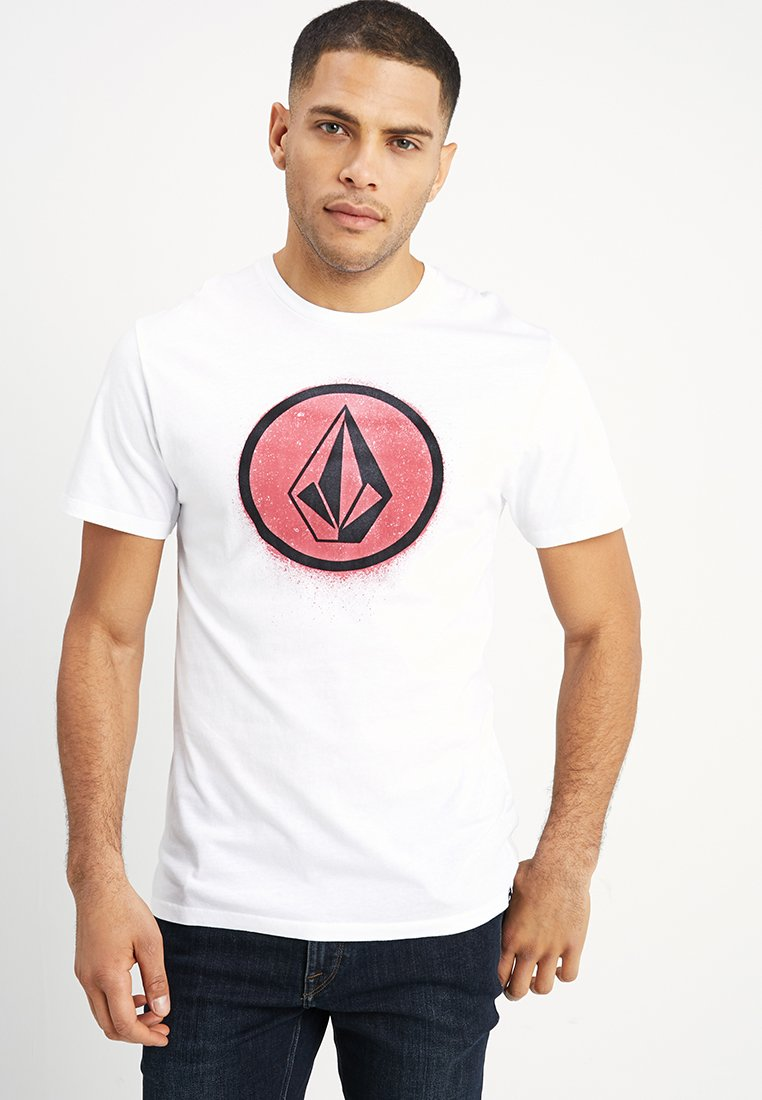 Volcom - SPRAY STONE - Print T-shirt - white