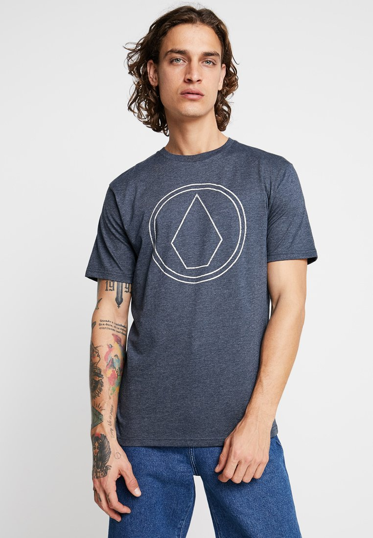Volcom - PINSTONE - T-Shirt print - navy