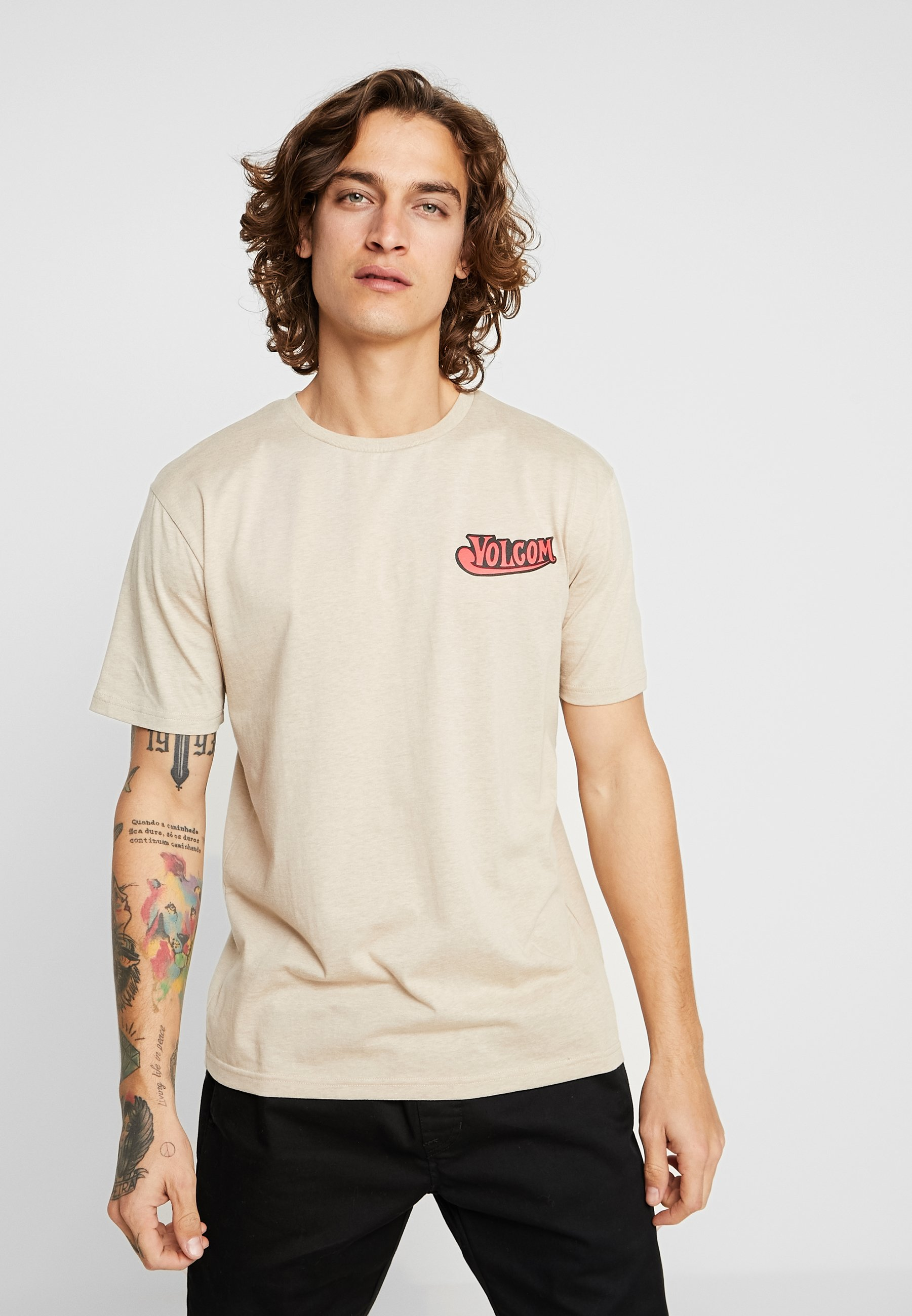 Glorious Oatmeal BeerT shirt Imprimé Volcom TOZiukXPw