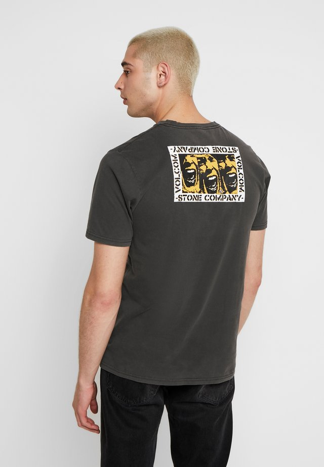 COLLINS TEE - Printtipaita - anthracite